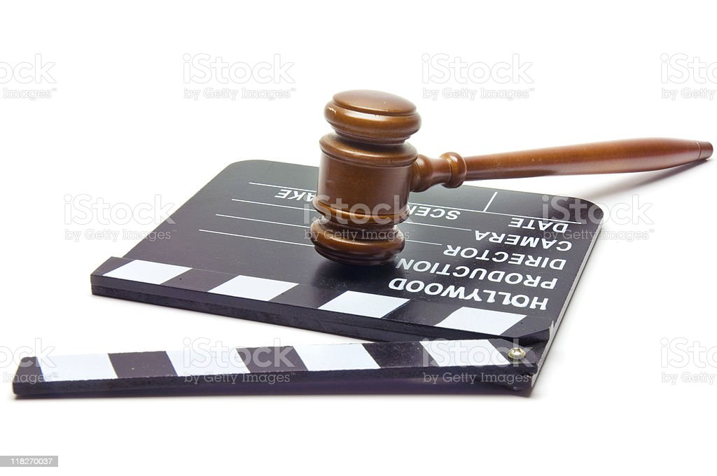 Law & Hollywood royalty-free stock photo