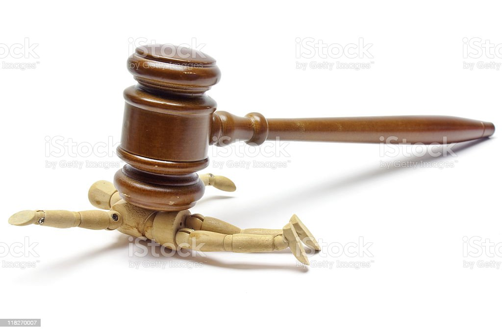 Law & Oppression stock photo