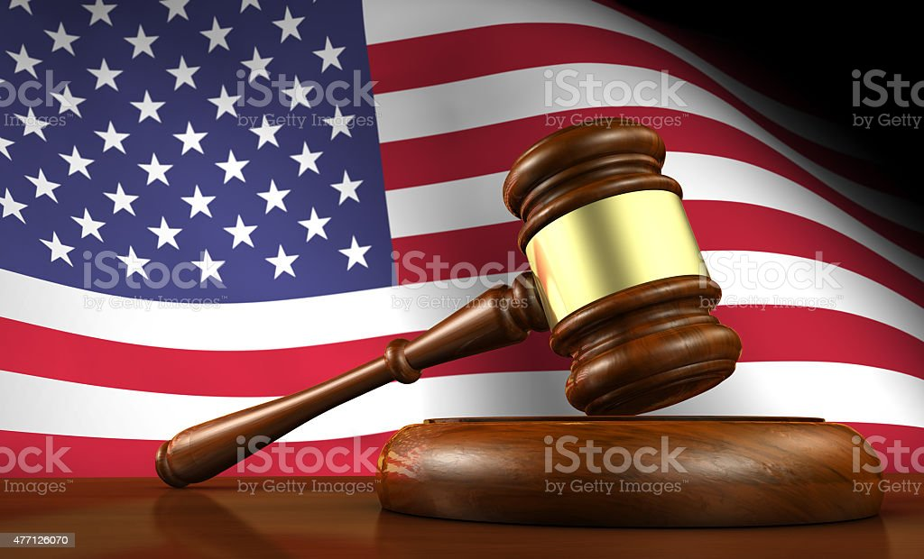 US Law And American Justice Concept stock photo