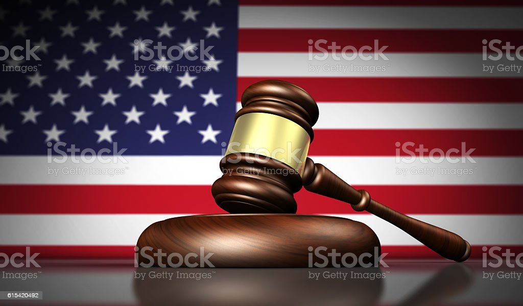 USA Law And American Justice Concept stock photo