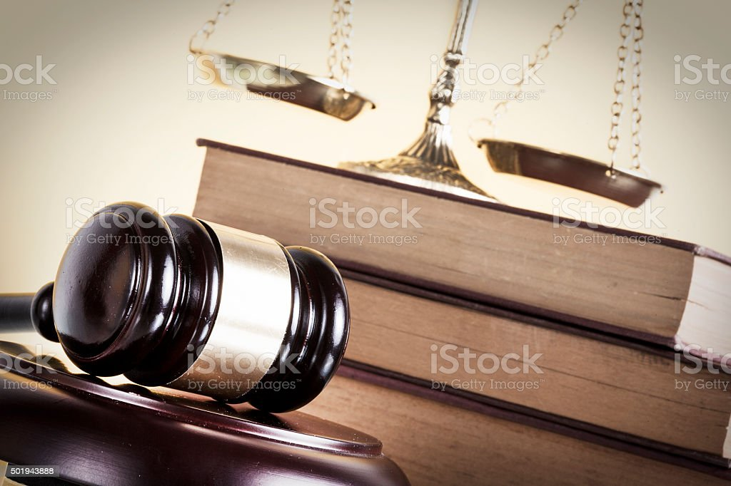 Law and justice concept stock photo