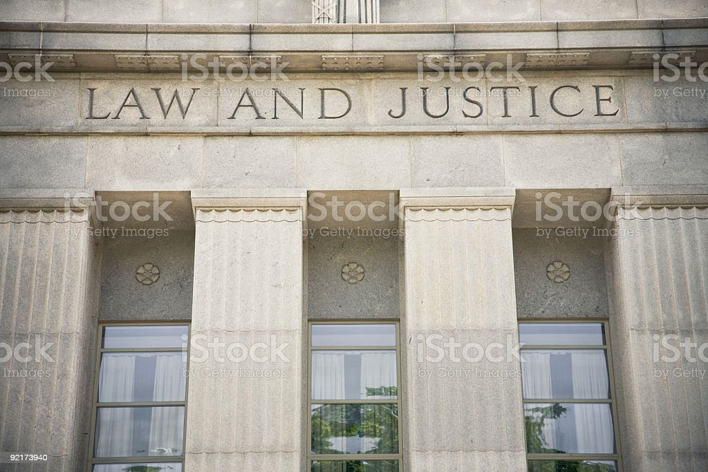 Law and Justice royalty-free stock photo
