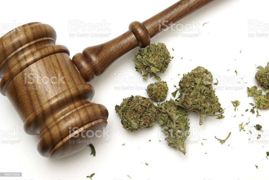 Law and Marijuana royalty-free stock photo