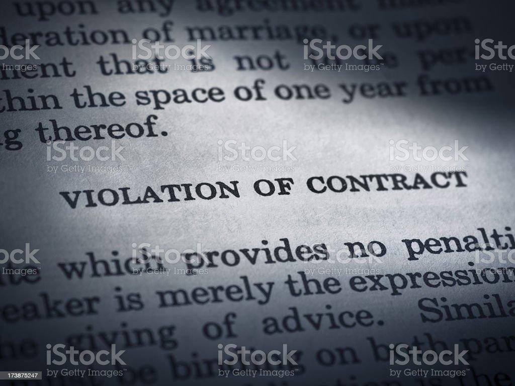 Law book violation royalty-free stock photo
