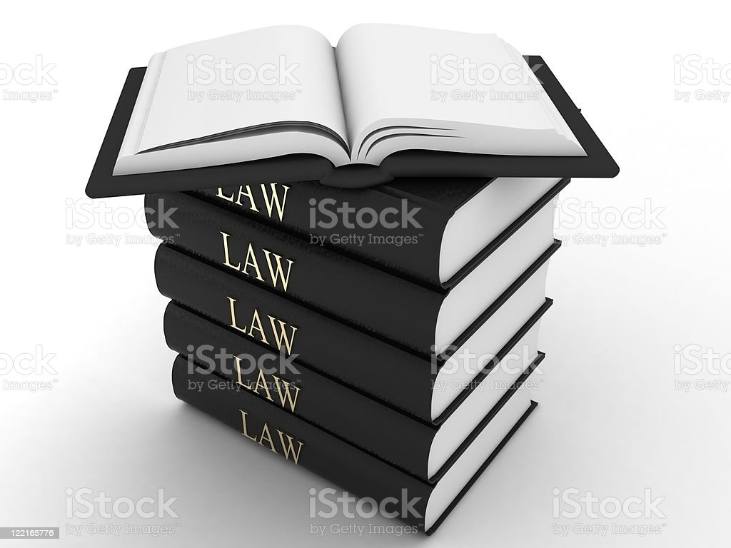 Law Books royalty-free stock photo
