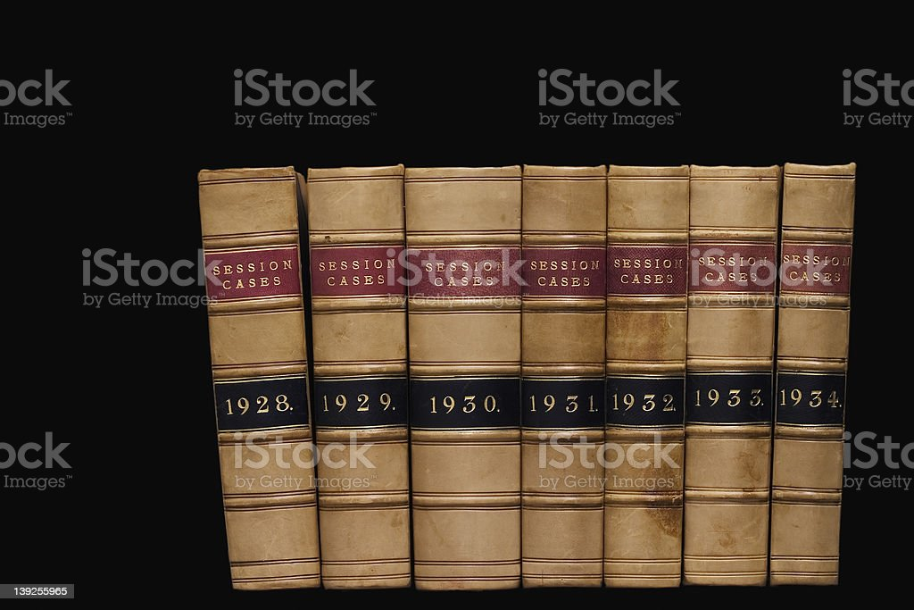 Law: Case Reports 3 royalty-free stock photo