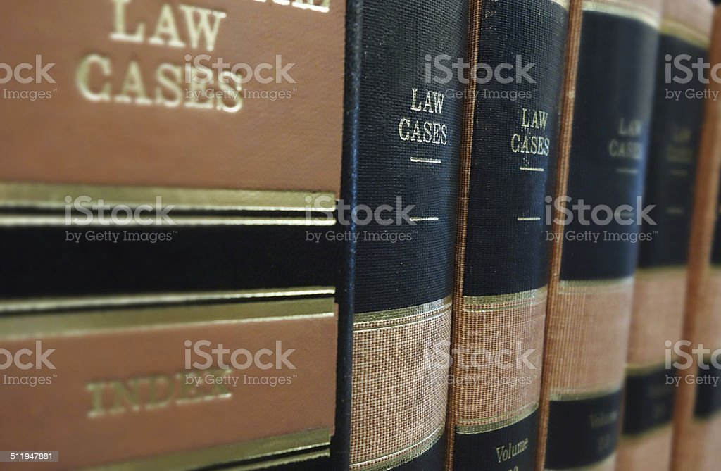 Law cases stock photo