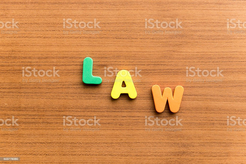 law  colorful word stock photo