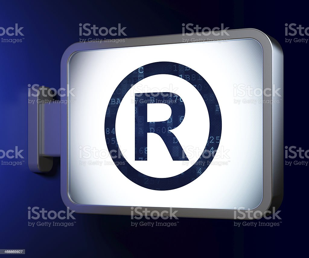 Law concept: Registered on billboard background royalty-free stock photo