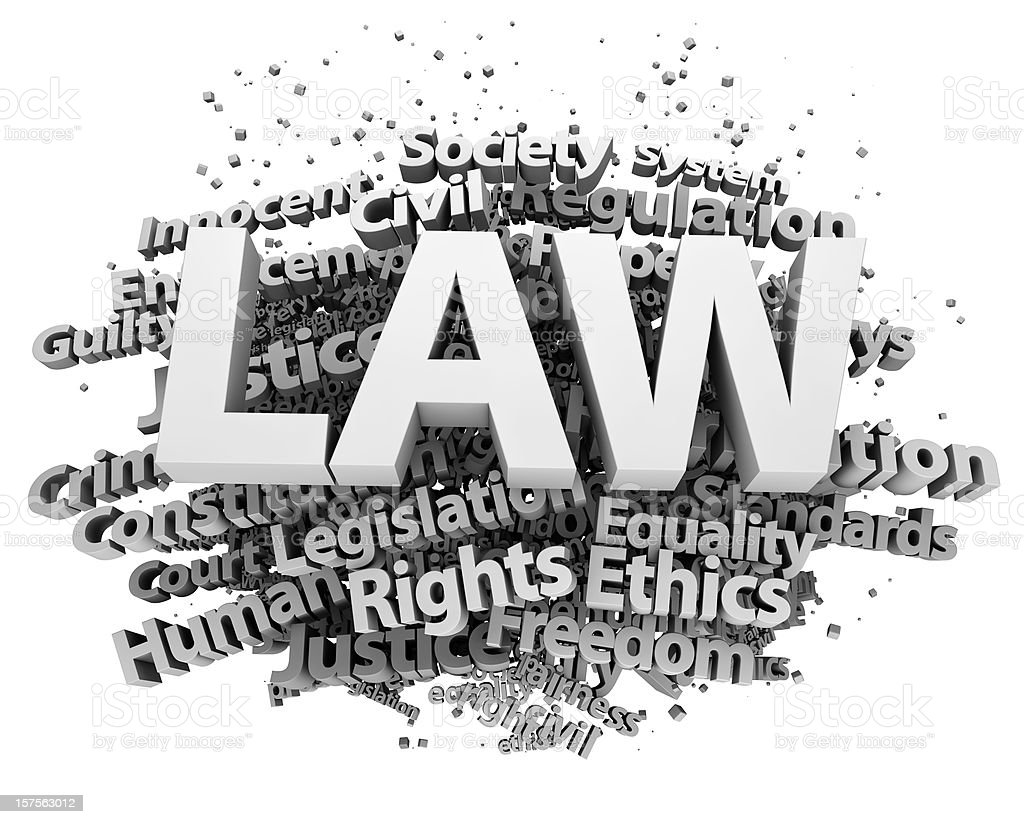 Law concepts stock photo