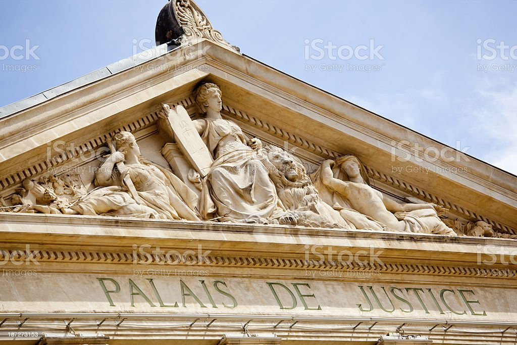 Law Courts in Nice royalty-free stock photo