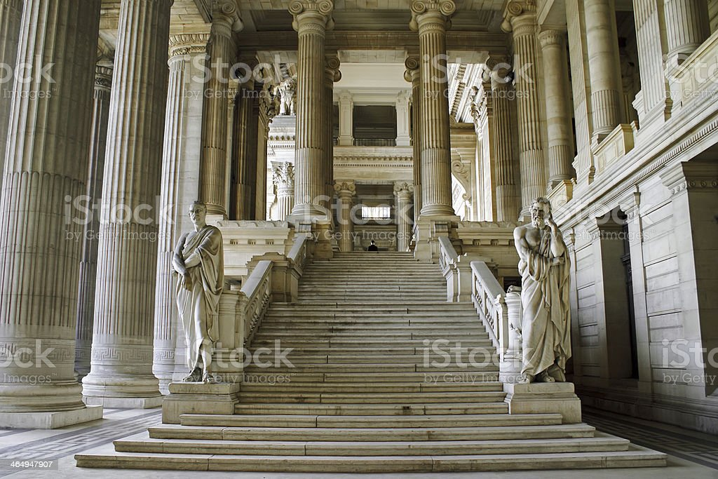Law Courts of Brussels stock photo