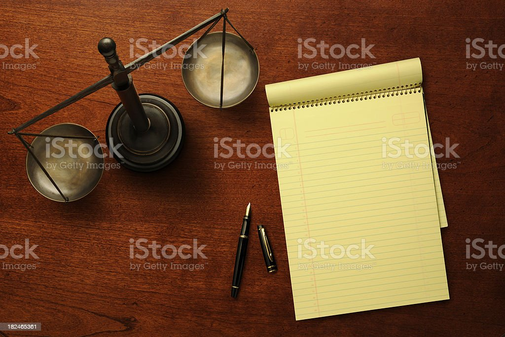 Law Desk royalty-free stock photo