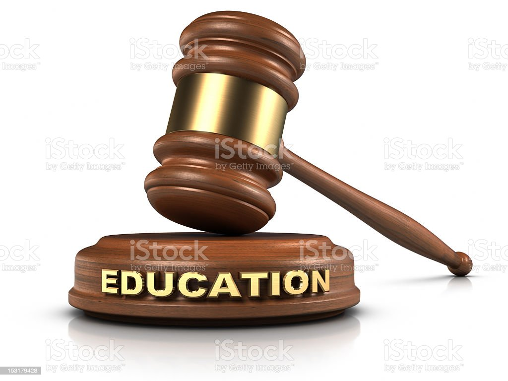 Law education concept illustration stock photo