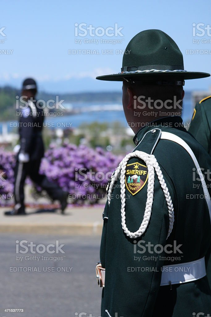 Law Enforcement Memorial Ceremony royalty-free stock photo