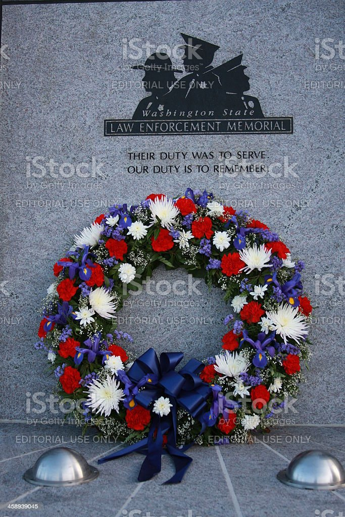 Law Enforcement Memorial stock photo