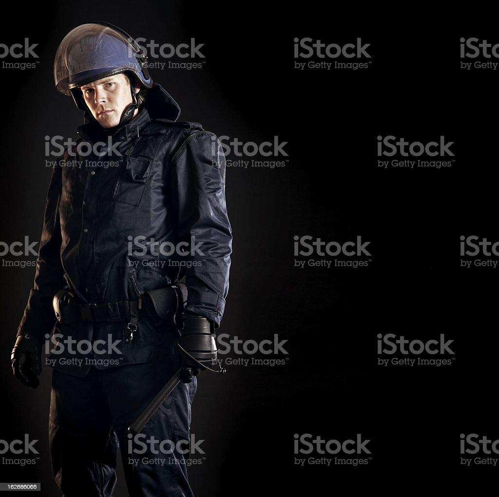 Law Enforcer Ready for Crowd Control stock photo