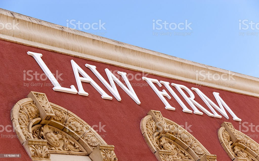 Law Firm Sign stock photo