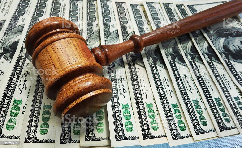 Law gavel stock photo