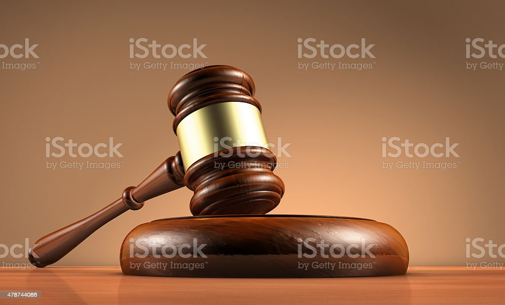 Law Judge Gavel And Legality Symbol stock photo