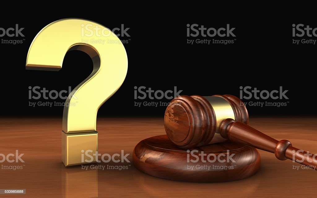 Law Legal Question Mark Symbol Concept stock photo