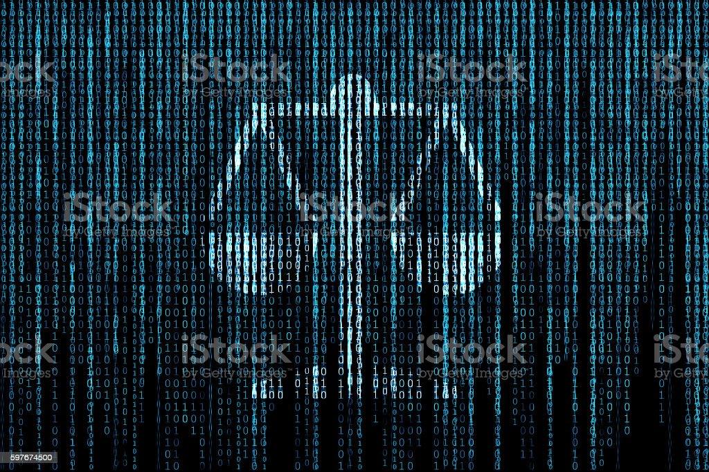 Law matrix background stock photo
