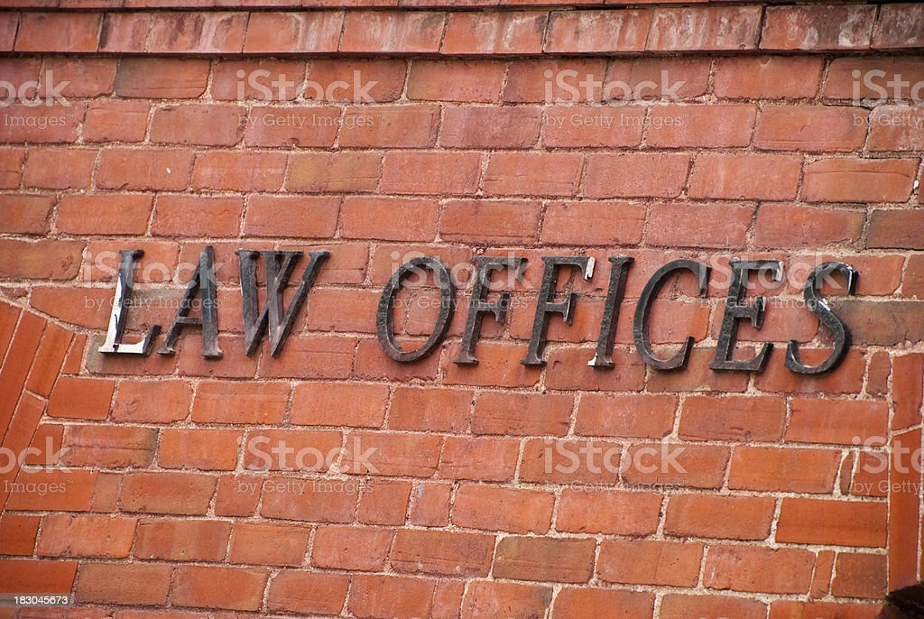 Law offices stock photo