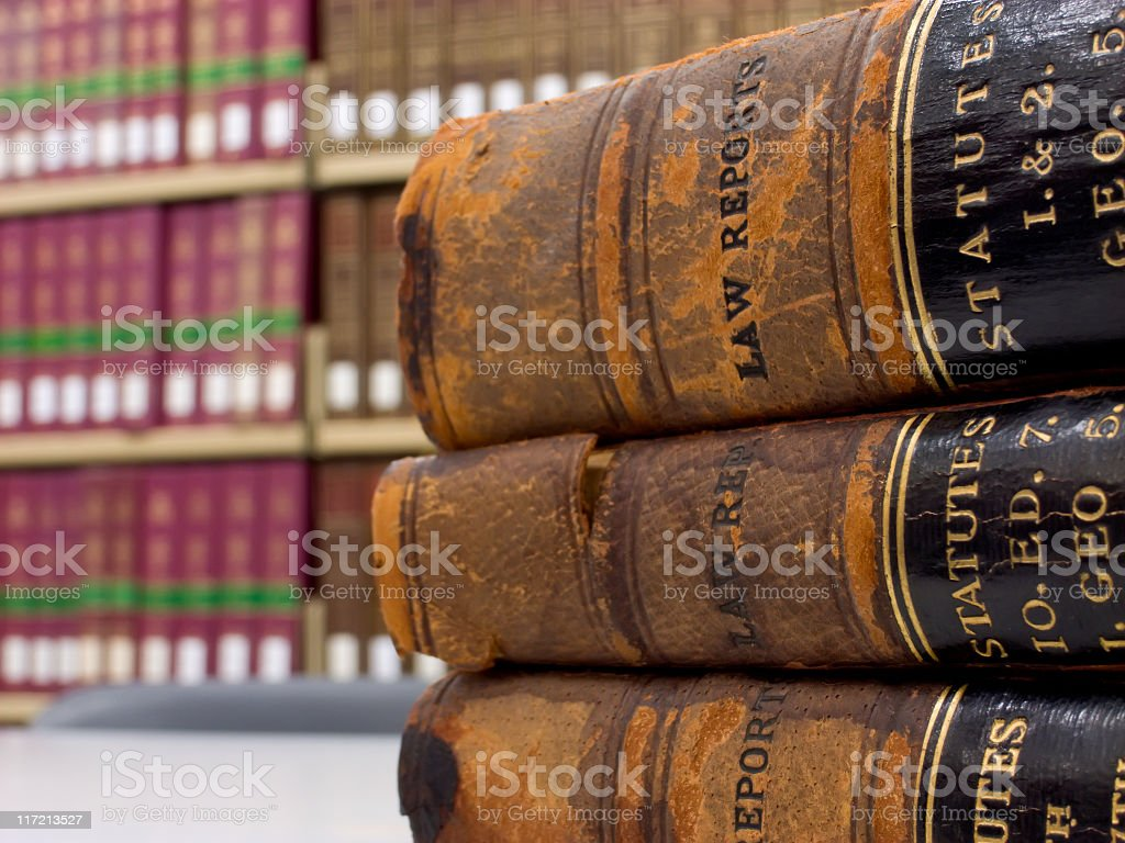 Law reports stock photo