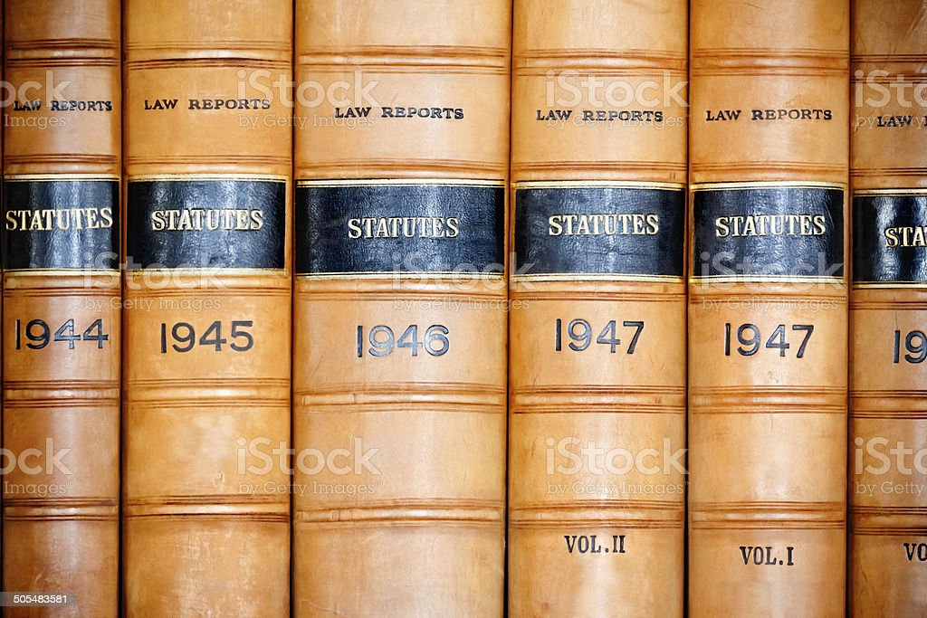 Law Statutes Library stock photo
