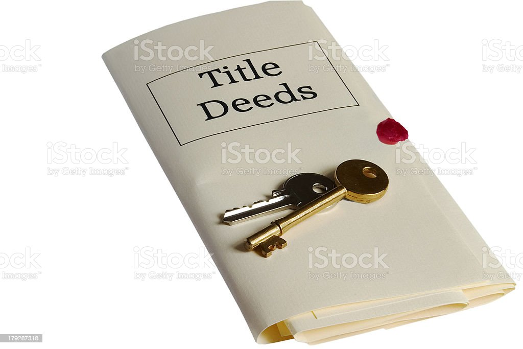 Law: Title Deeds and Keys stock photo