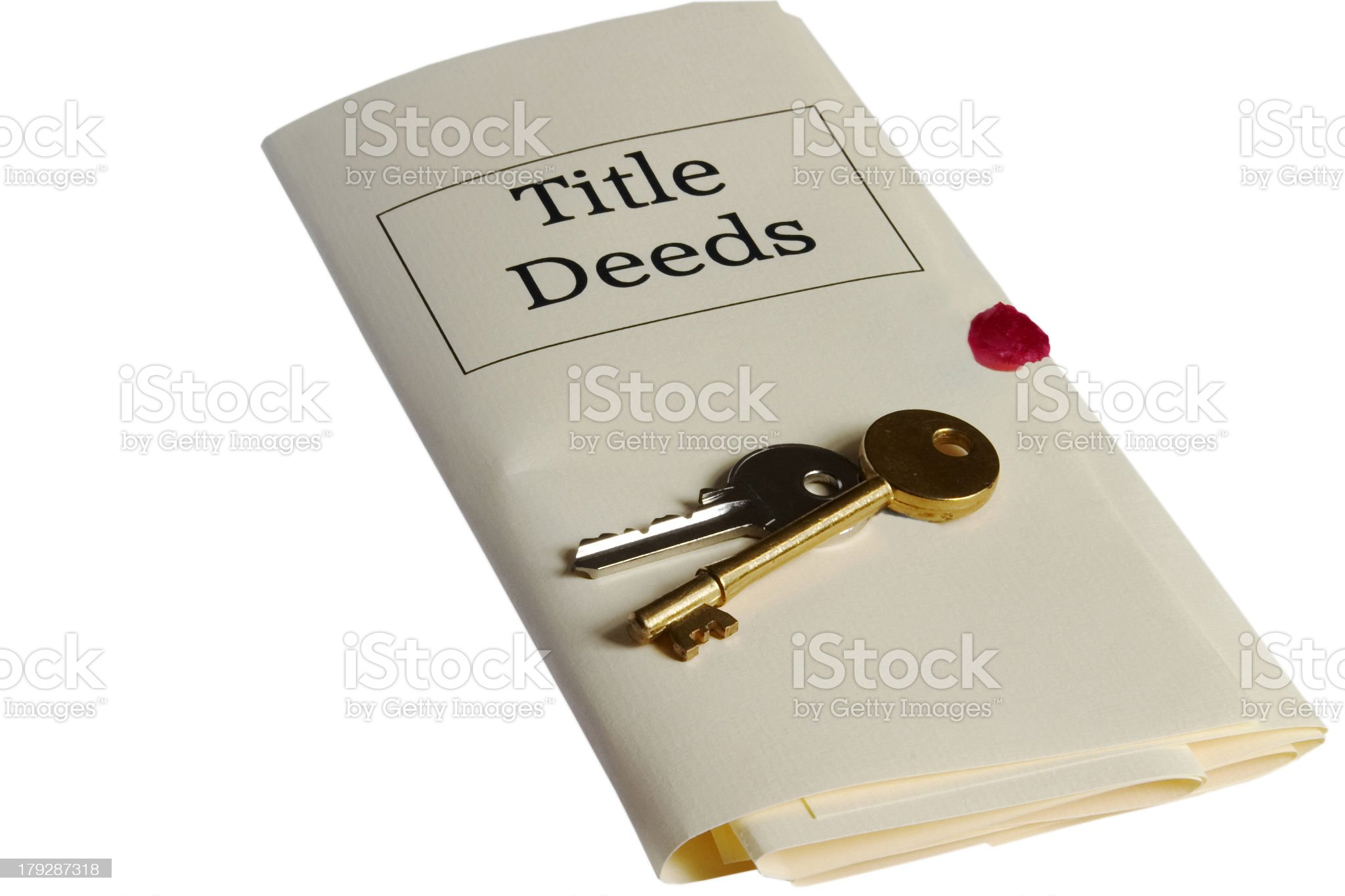 Law: Title Deeds and Keys royalty-free stock photo