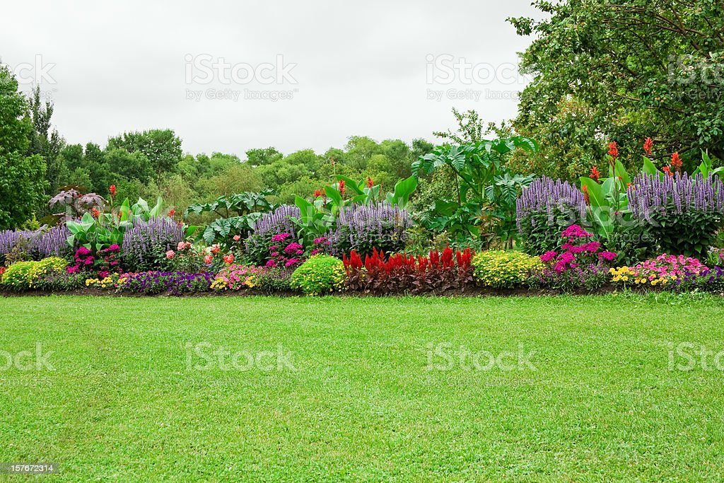 Lawn and Formal Garden stock photo