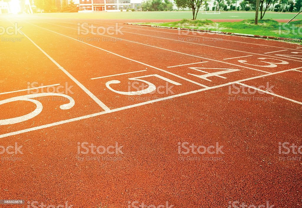 Lawn and sports runway stock photo