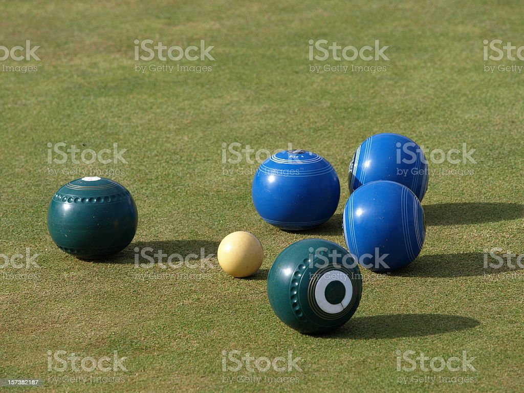 Lawn Bowls stock photo