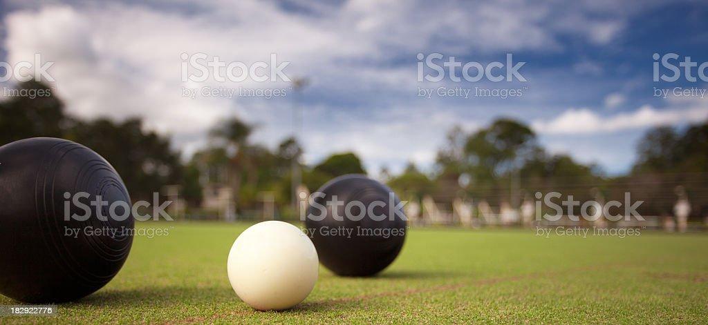 Lawn Bowls stock photo