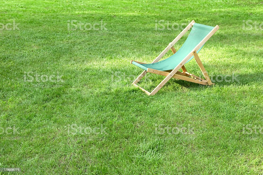 lawn chair royalty-free stock photo