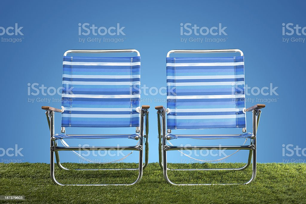 Lawn Chairs royalty-free stock photo