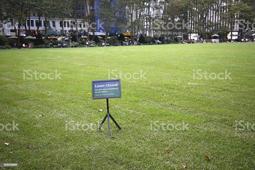 Lawn Closed stock photo