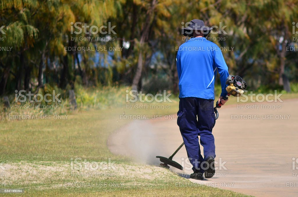 Lawn Cutting Service stock photo