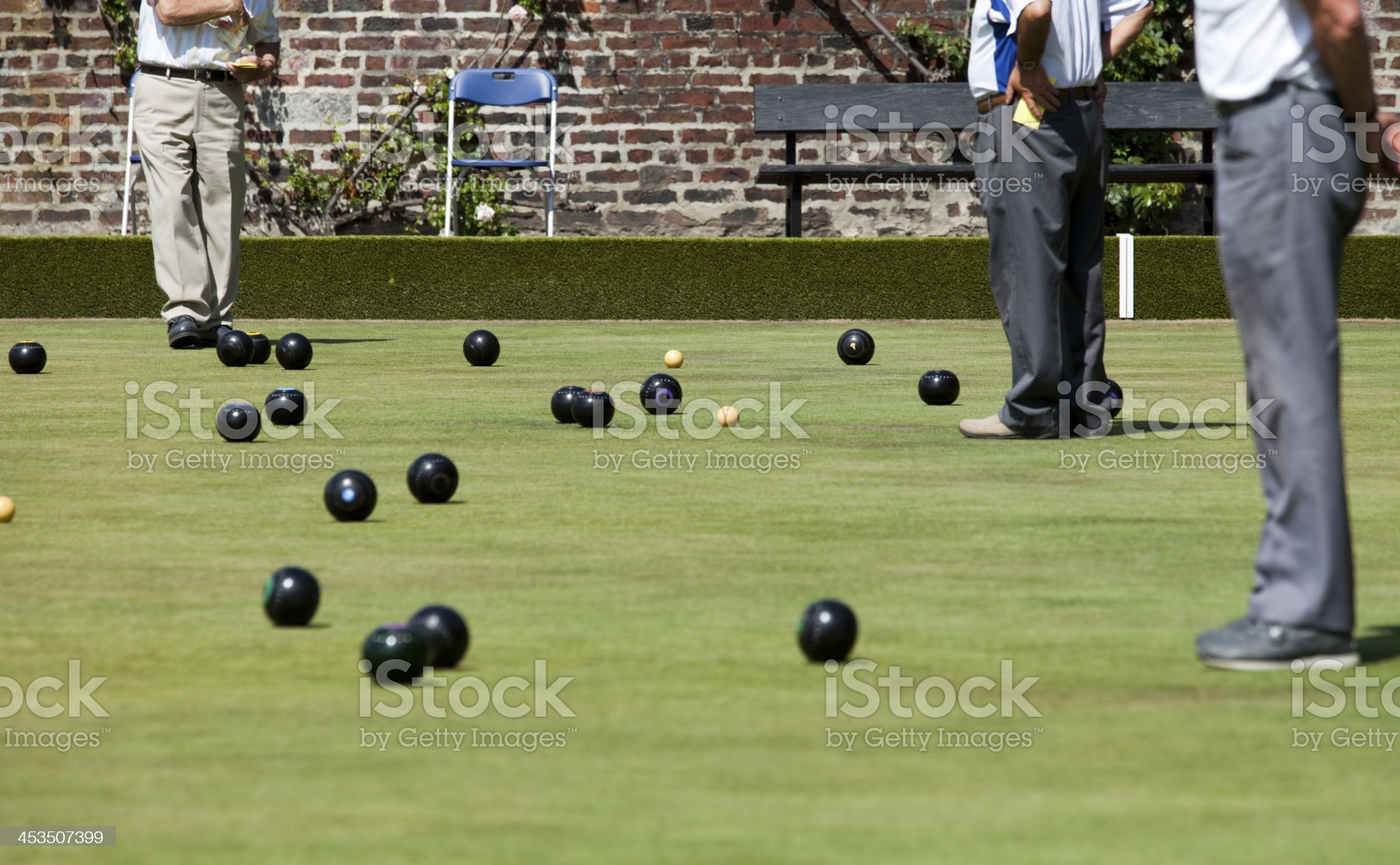 Lawn Green Bowling Competition royalty-free stock photo