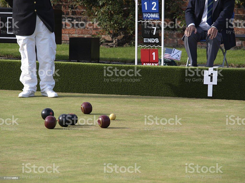 Lawn Green Bowls royalty-free stock photo