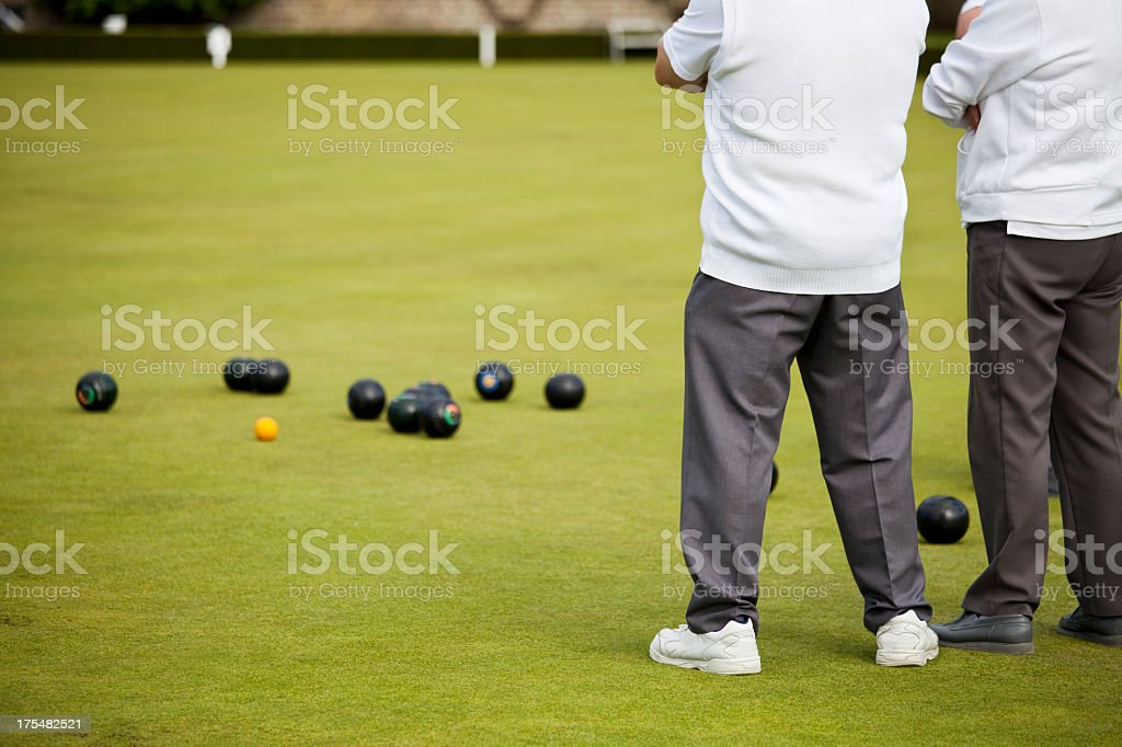 Lawn Green Bowls stock photo