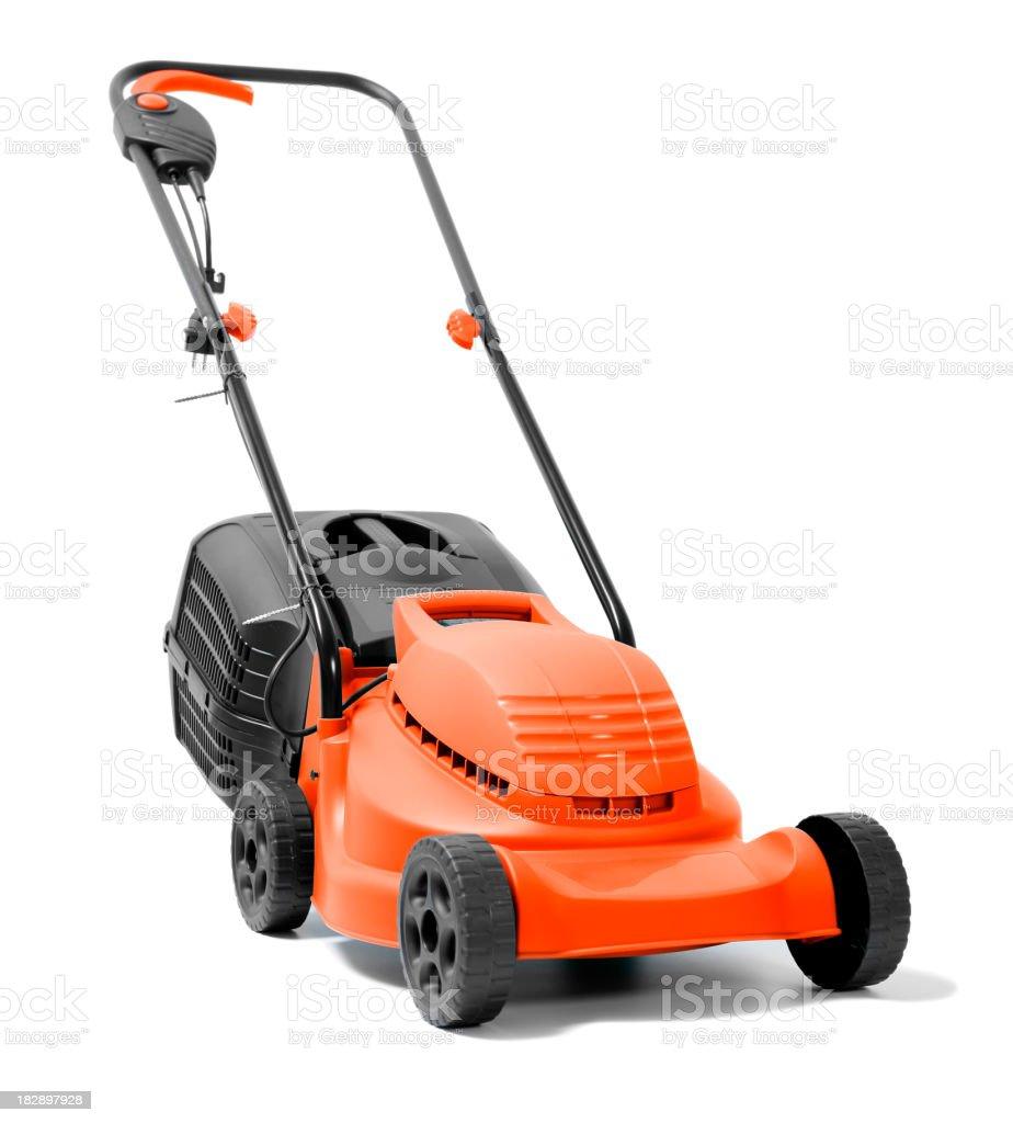 Lawn Mower on white stock photo