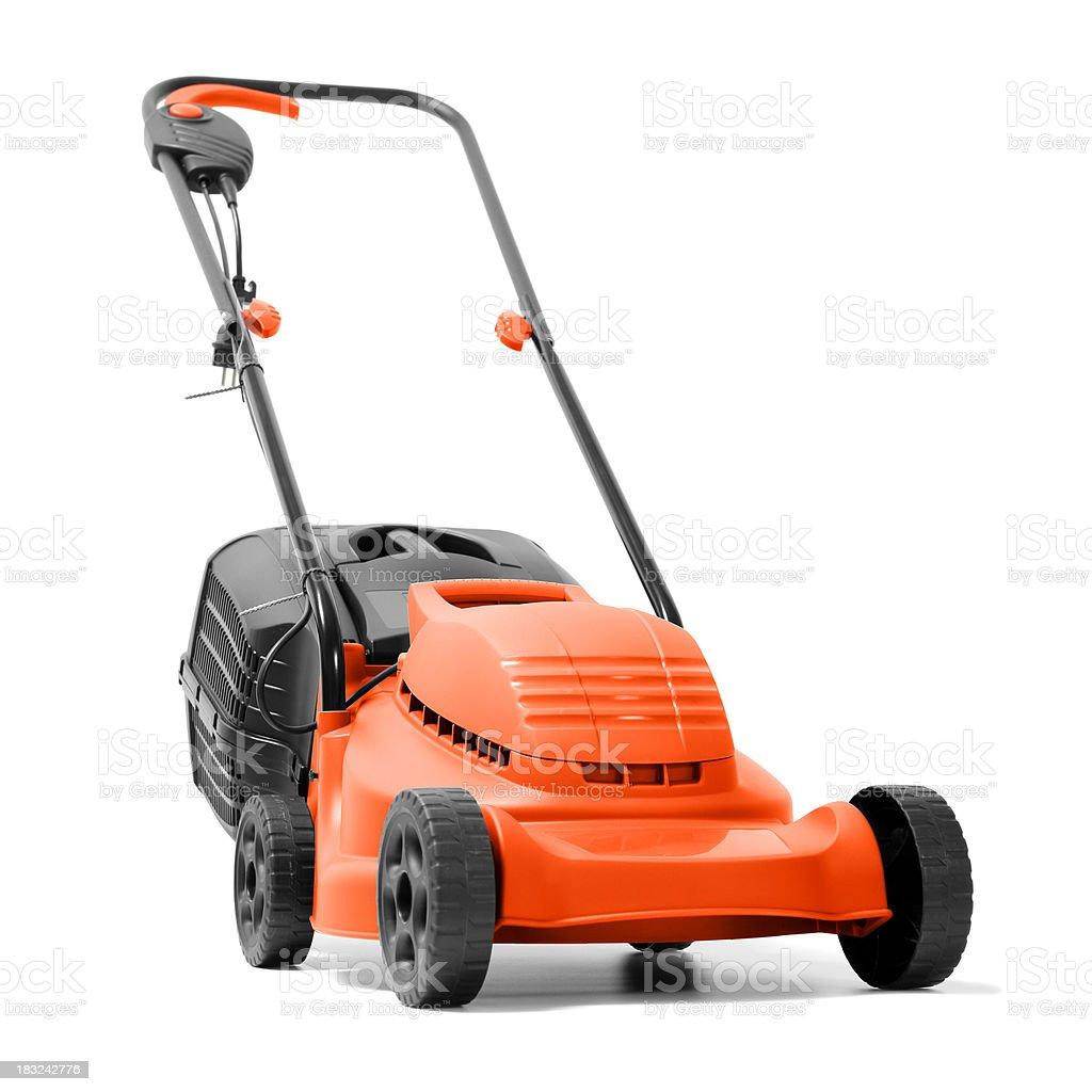 Lawn Mower on white royalty-free stock photo