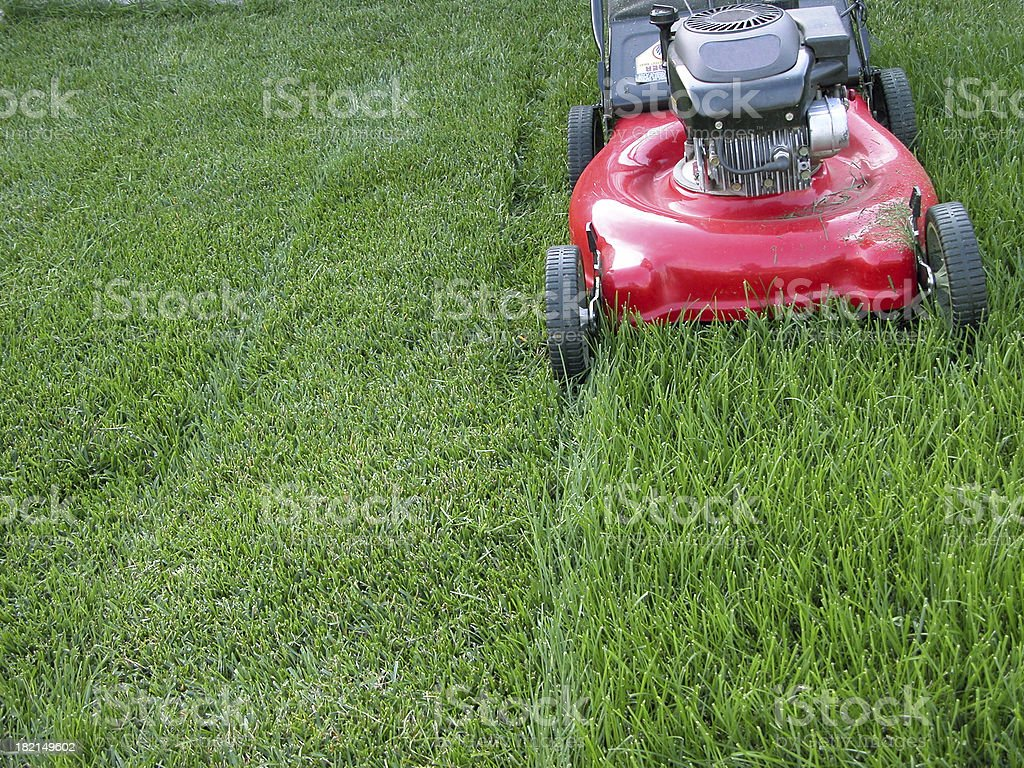 Lawn Mower - Red stock photo