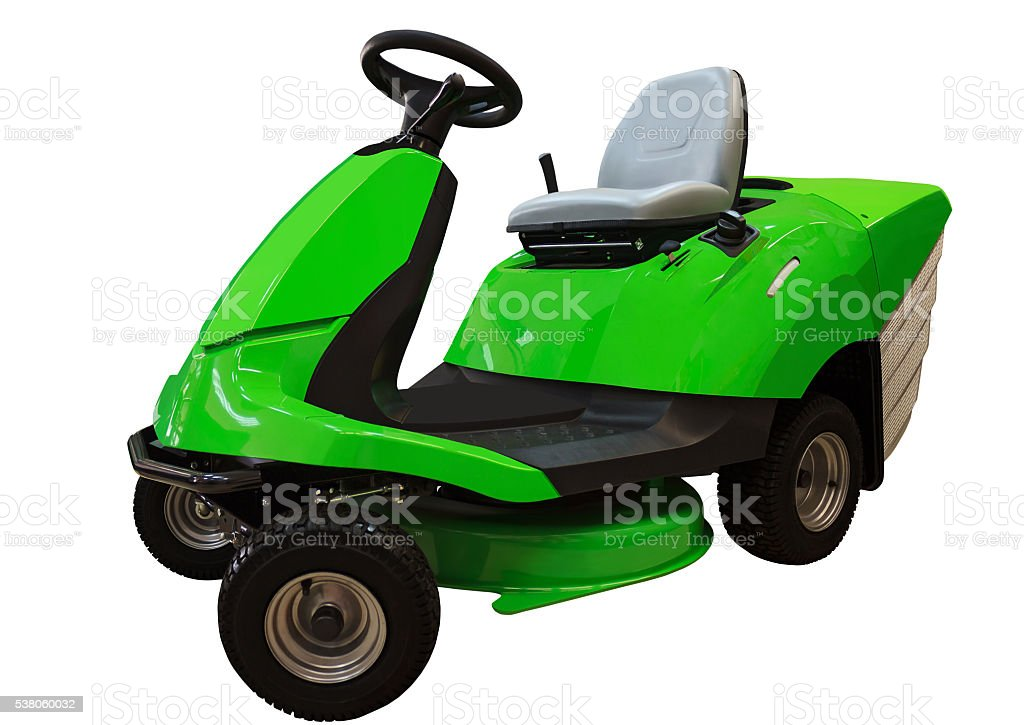 Lawn mower tractor stock photo