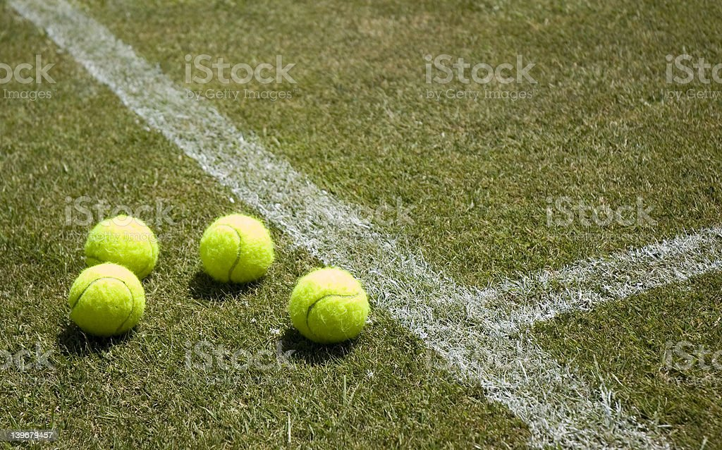 Lawn tennis 2 royalty-free stock photo