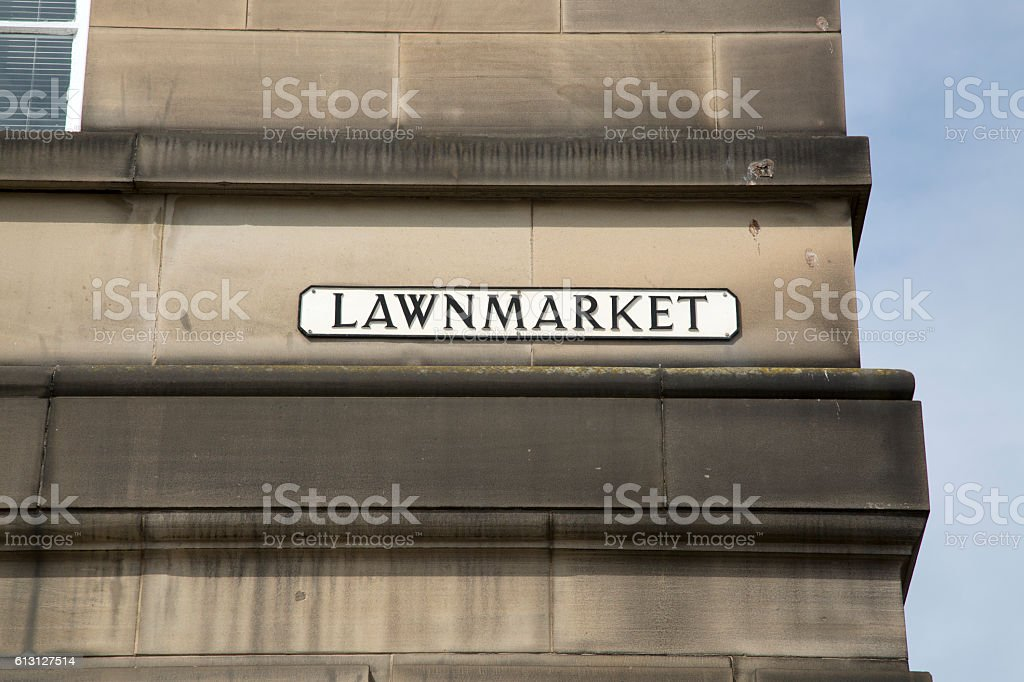 Lawnmarket - Royal Mile Street Sign; Edinburgh stock photo
