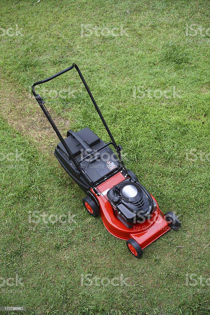 Lawnmower stock photo