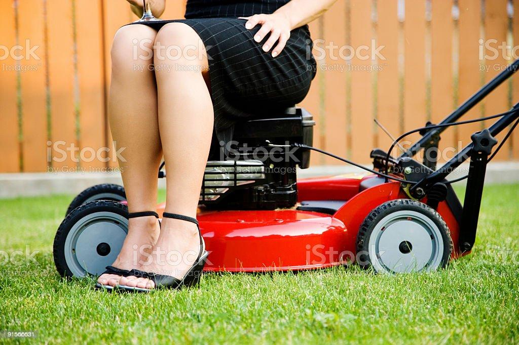 Lawnmower Posh stock photo